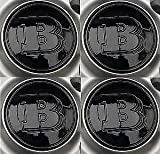 4 Smart Brabus Black Wheel Centre Cap badge Fortwo Roadster Forfour Cover Genuine