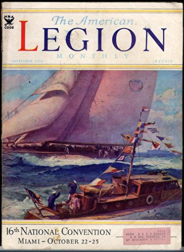 The American Legion Monthly Magazine - September 1934 - America's Cup Yachting Theme