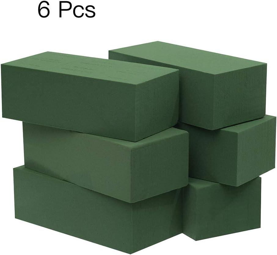 LUOWAN Crafare 6pc Wet Floral Foam Bricks Green Florist Styrofoam Blocks for Christmas Fresh Flower Arrangement and Crafts Supply
