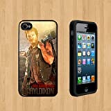 The Walking Dead Daryl Dixon Custom Case/Cover FOR Apple iPhone 4 /4S BLACK Rubber Case ( Ship From CA )