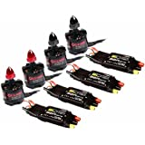 XSD MOEDL Emax MT2213 935KV Brushless Motor & BLHeli 30A ESC 3-4S for DJI F450 S500 Quadcopter (pack of 4 pcs)