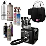 Venus Spray Tan Machine and Gun Kit with Norvell Airbrush Tanning Solution Sunless Pro Bundle and Black Pop Up Tent