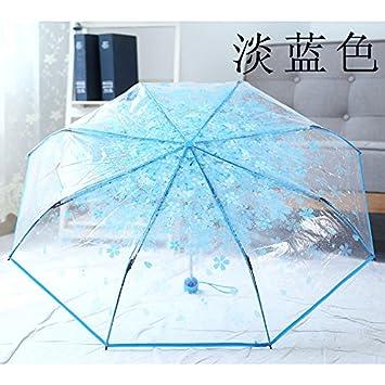 Olici Flores De Cerezo Transparente Paraguas Plegable Lluvioso Y De Doble Uso Pequeñas Refrescante Sen Creativo