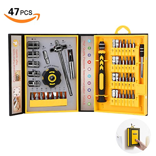 Screwdriver Bit Set Socket Wrenches, Professional Electronics Precision Magnetic Driver Micro Repair Tool Kit by HFHOBANG