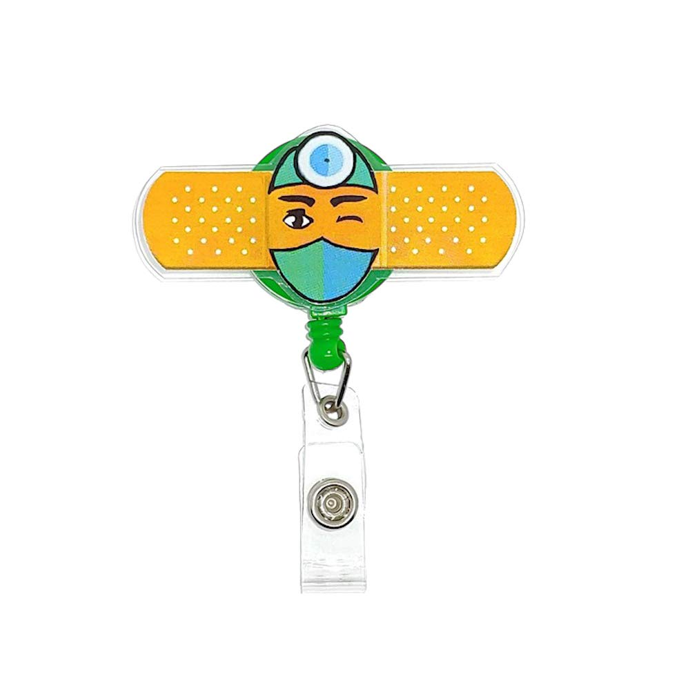 ÉQUILIBRÉ Badge Holder Card id tag Retractable Reel Durable Slide Clip Men Women Doctor Nurse Name Cute Funny Present…
