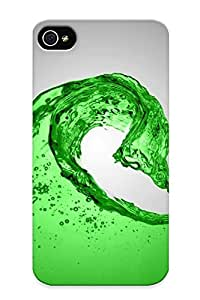 B621f671772 Tpu Case Skin Protector For Iphone 4/4s Green Water Liquid Sony Ericsson With Nice Appearance For Lovers Gifts