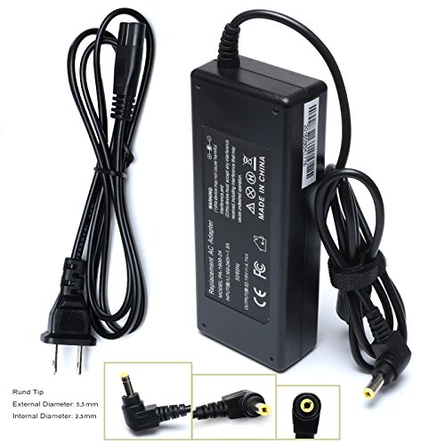 90W Ac Adapter Laptop Charger for Toshiba Satellite C655 C655D C675 C850 C855 C855D C875 C50 C55 C55D C55DT C55T C75 C75D L50 L55 L55D L75 L305 ; PA3714U-1ACA PA5035U-1ACA PA3917U-1ACA Power Cord (Toshiba Adapter Ac Laptop Charger)