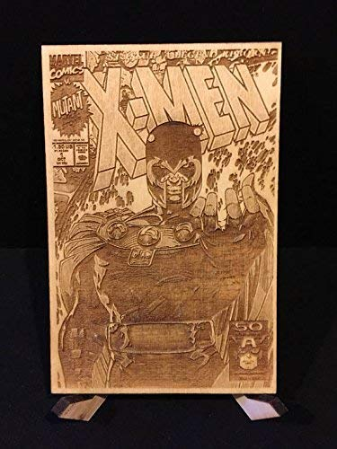 X-Men #1 All Four Jim Lee Covers Laser Etched Wood Covers on Baltic Birch by CCHobby (Image #2)