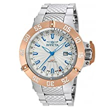 Invicta Men's 'Subaqua' Swiss Quartz Stainless Steel Casual Watch, Color:Silver-Toned (Model: 21728)