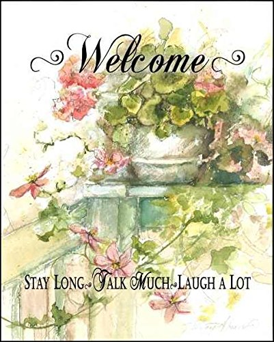 LPG Greetings Welcome Stay Long Plaques 11 by 14-Inch