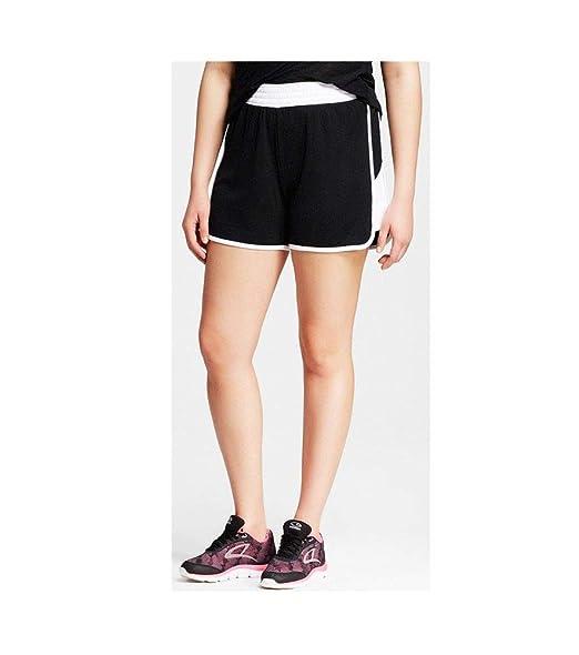 e4e13ebf141c C9 by Champion Women Athletic Sports Duo Dry Mesh Shorts Black White ...