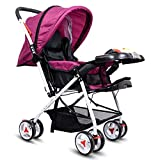 Little Olive Tweety Reversible Baby Stroller and Pram with Musical Food Tray - (Wine Colour)