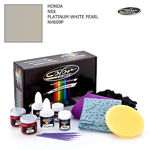 Honda White Glove - Honda NSX/PLATINUM WHITE PEARL - NH609P/COLOR N DRIVE TOUCH UP PAINT SYSTEM FOR PAINT CHIPS AND SCRATCHES/PLUS PACK
