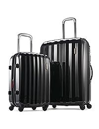 Samsonite Prism 2-Piece Hardside Spinner (20/28) Luggage Set, Black, Checked – Large (Model: 111720-1041)
