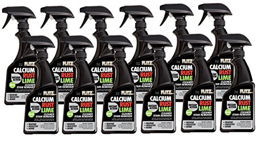 Flitz CR 01606-12A Instant Calcium, Rust and Lime Remover, 16 oz. Spray Bottle, 12-Pack