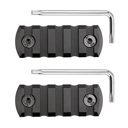 SportsEveryday Picatinny/Weaver Rail for M-LOK handguards, Aluminum alloy,5-slot,pack of 2
