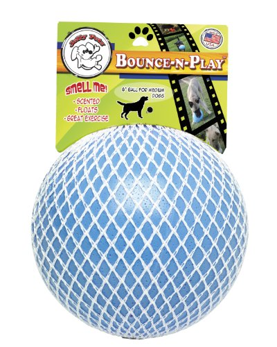 Jolly Pets 6 Inch Bounce n Play Blueberry