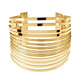 MXYZB Stainless Steel Wide Cuff Bangle Bracelet Hollow - Best Reviews Guide