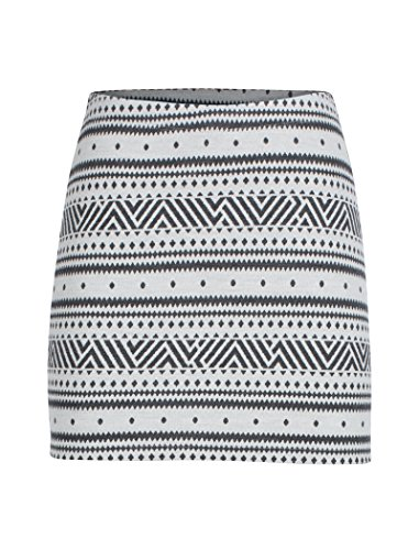 (Icebreaker Merino Women's Vertex Skirt Icon Fairisle, Snow/Jet Heather, Medium)