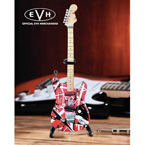 EVH Minature Guitars EVH001 Frankenstein Mini Replica Guitar Van Halen, Red & White