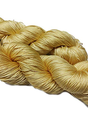 (Knitsilk 3 ply Mulberry Silk Yarn Solid Colors, 50 Grams, 260 Yards, Great for Knitting, Crochet, Weaving, Tapestry (Pastel Yellow))