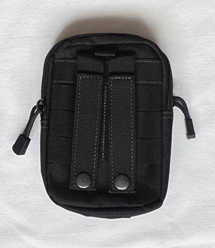 Gürteltasche viele Extras Bodybag Hüfttasche schwarz