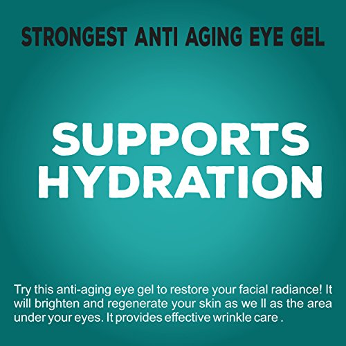 516Y7fNMJwL - Anti Aging Eye Gel - Made in USA - for Dark Circles, Puffiness, Wrinkles, Bags, Skin Firming, Fine Lines and crows feet - The Best Natural Eye Gel for Under and Around Eyes.