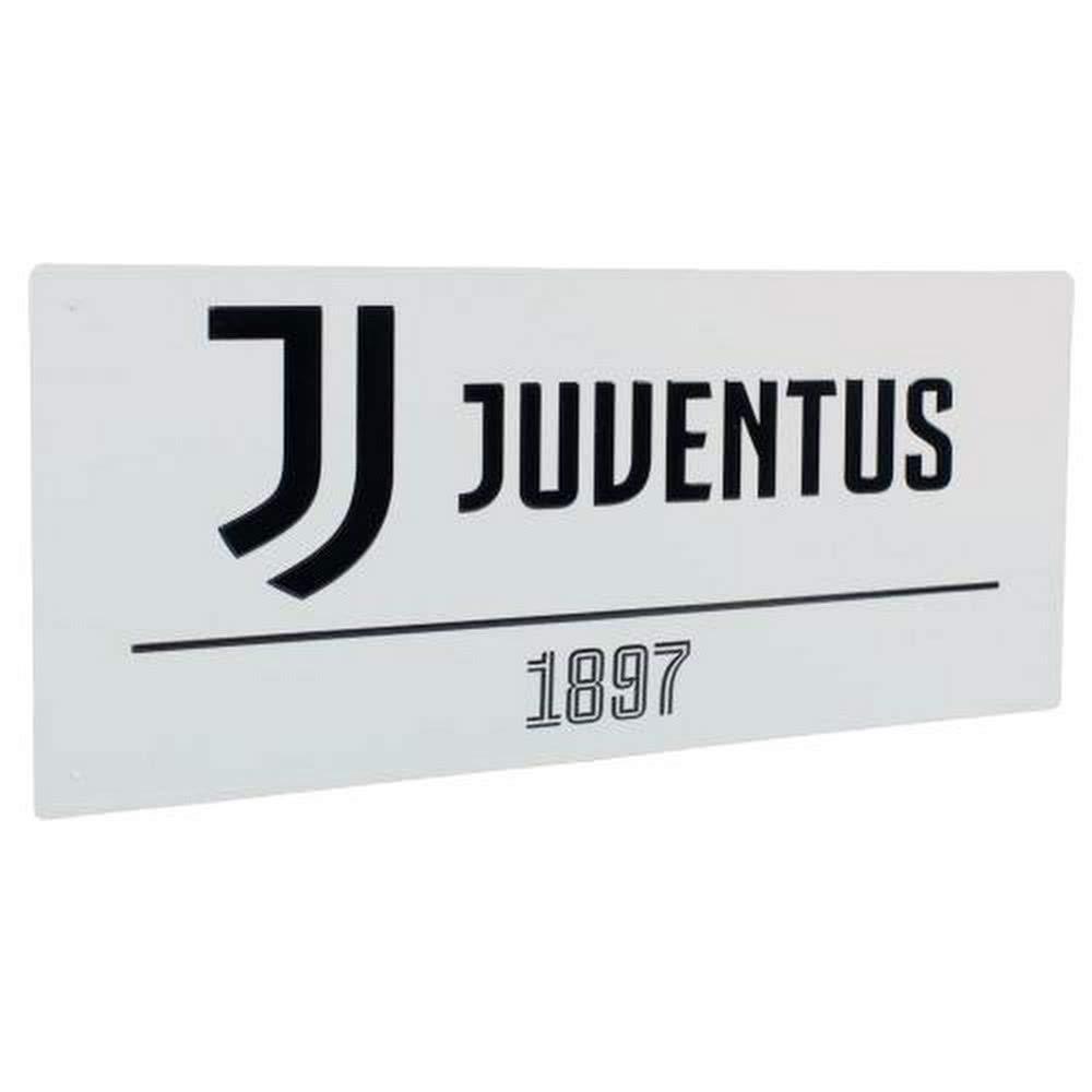 Juventus Street Sign White