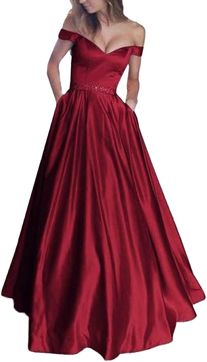 Lialbert Damen Schulterfreies Kleid Große Größen Abendkleider Lang