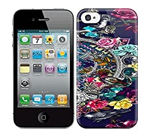 Best Power(Tm) HD Colorful Painted Watercolor The Different Of Flowers Around The Two Birds Hard Phone Case For Iphone 4/4S