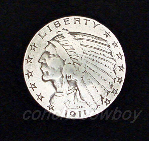 """Conchos for Clothes Western Antique Indian Head Reproduction Coin Concho 7/8"""" Screw Back from OutletBestSelling"""