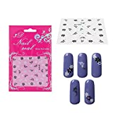Elite99 3D Design Nail Art Stickers with Rhinestones Collection Tip Decal Manicure 302