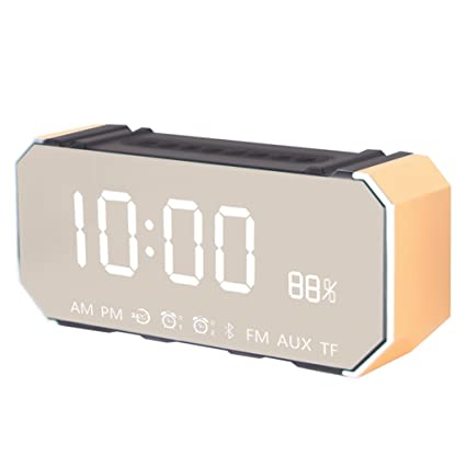 WXF Reloj de Alarma de la música, Altavoz inalámbrico de ...