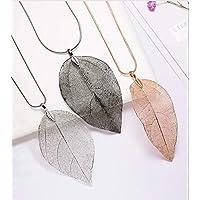 Blatt Kette Halskette Natürlichen Filigranen Blatt Anhänger Halskette Lange Böhmischen Schmuck für Damen
