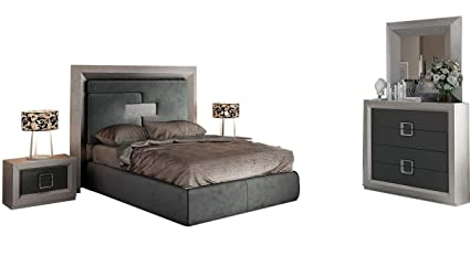 Amazon.com: Enzo Modern King Bedroom Set in Grey, 5-Piece ...