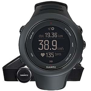 Suunto AMBIT3 SPORT HR - Reloj GPS unisex multisport, 15 h de duración de la batería, monitor frecuencia cardiaca + cinturón de frecuencia cardiaca (talla: M), sumergible hasta 50 m, color negro