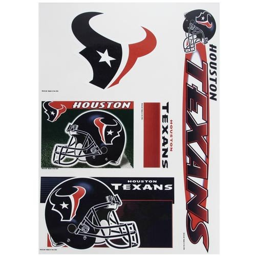 NFL Houston Texans 08092051 Multi Use Decal, 11