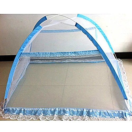 Pop Up Easy Install Baby Insect Mesh Cover for Bed, Foldable Mosquito Net Tent Bottomless with Carrying (Where Can I Buy Cat Eye Contacts)