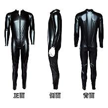 Faux Leather Jumpsuit Unisex Latex Bodysuit Bondage Catsuit
