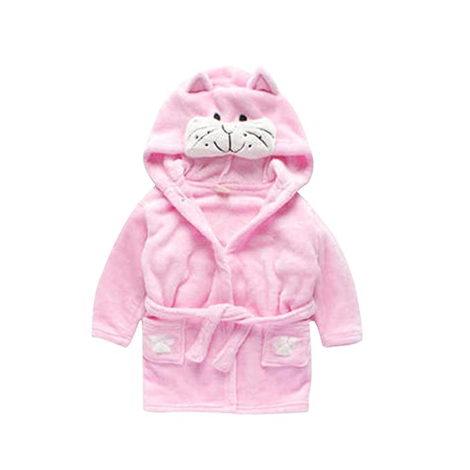 e86a5bbb3 Mesinsefra Little Girl s Coral Fleece Bathrobe Unisex Kids Robe ...