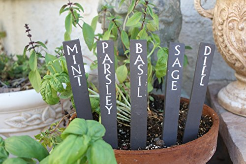 Cheap  Herb Label set of 5 handmade ceramic garden sign