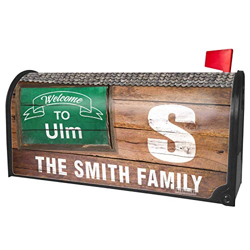 NEONBLOND Custom Mailbox Cover Green Sign Welcome to ULM ()