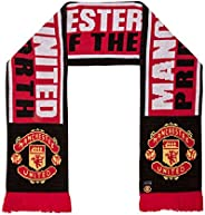 Manchester United FC Authentic EPL Pride of The North Scarf,red,Black,White,4.5 ft Long