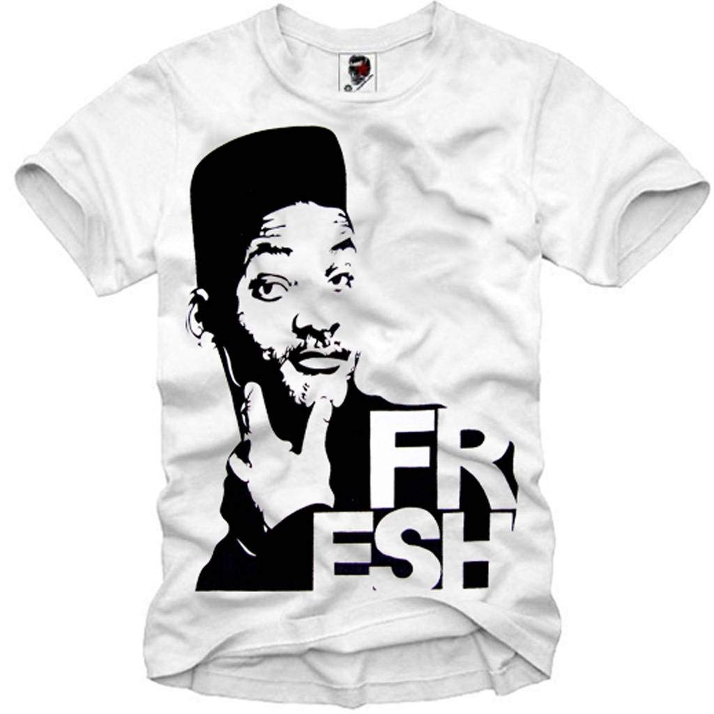 E1SYNDICATE T-SHIRT FRESH PRINCE OF BEL AIR SWAG WILL SMITH DOPE 23 E1A.938c.crew