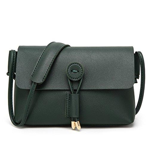 mefly Moda bandolera bolso bandolera Messenger Bag Ladies, rosa verde