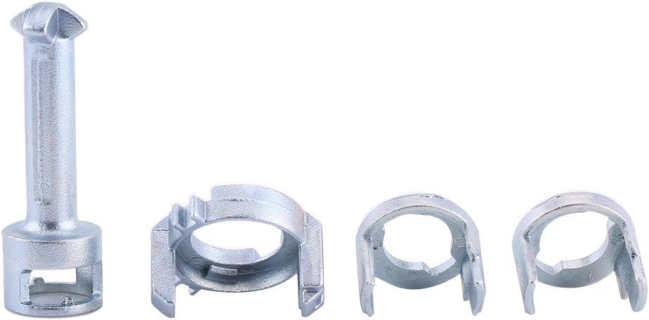 Qiilu 7pcs Front Door Lock Barrel Repair Kit Right Left X3 X5 SI-A0425