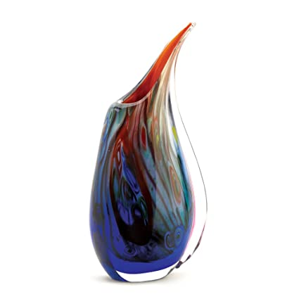 Amazon Accent Plus Peacock Vase Set Small Clear Blue Glass
