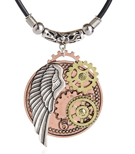 Heilong Fashion Retro Steampunk Gear Necklace Pendants Glamour Jewelry Accessories Gifts 7