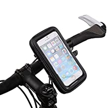 Gzerma Bike Mount Holder, 360 Rotation Bicycle Motorcycle GPS Handlebar Stand with Waterproof Cell Phone Case for Samsung Galaxy S7 S6 Edge Iphone 6 6S Plus LG Sony HTC Up to 5.5 Inch