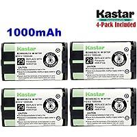 Kastar HHR-P104 Battery (4-Pack), Type 29, NI-MH Rechargeable Cordless Telephone Battery 3.6V 1000mAh, Replacement for Panasonic HHR-P104 HHR-P104A,23968 439024 439025 439026 439030 439031,KX-FG6550 KX-FPG391 KX-TG2302 KX-TG230 KX-TG2312 KX-TG2355W KX-TG2356 KX-TG2357 KX-TG2382B KX-TG2386B KX-TG2388B KX-TG2396...Compatible Again & Again STB941,Battery Biz B-779,Dantona BATT104, Empire CPH496, Energizer ERP104,GE TL96411,TL26411,TL86411,GP GP85AAALH3BXZ,Hi Capacity B779,Interstate Battery TEL0006